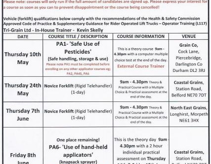 May-June Training Courses