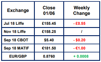 Market Report 1st June