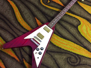 For Sale: 1980 Aria Pro II Flying-V in Cherry Red
