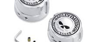 Willie G Skull Rear Axle Nut Covers
