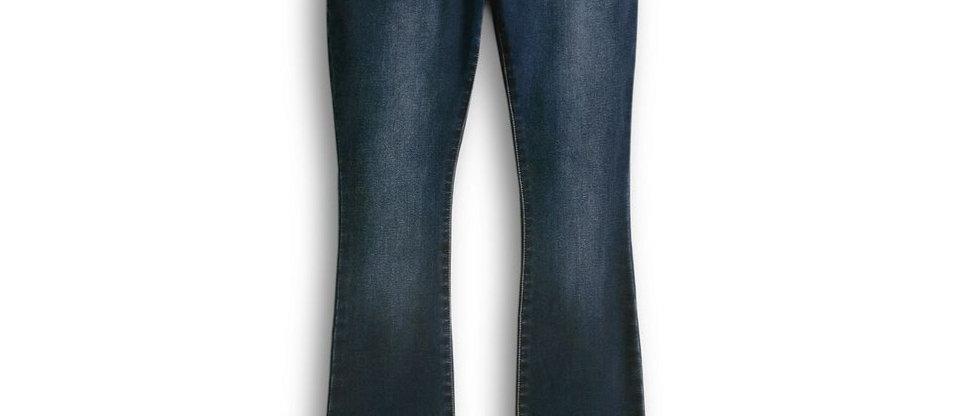 Jeans de cintura elástica con corte bootcut para mujer