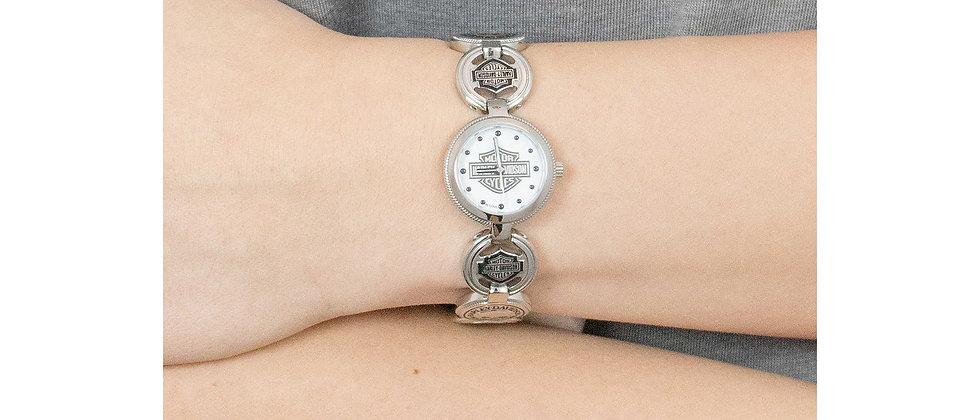 Reloj de pulsera Harley-Davidson® Bulova Charm Bracelet para mujer