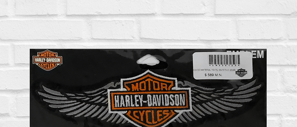 HARLEY-DAVIDSON WINGS WHITE PATCH