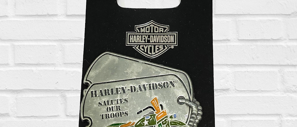PIN HARLEY-DAVIDSON SALUTES OUR TROOPS