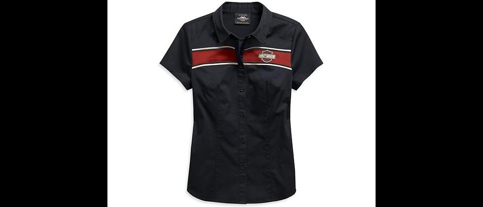 Women's Washed Zip-Front Shirt