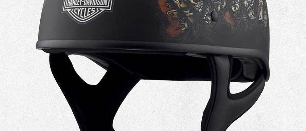 Casco Harley-Davidson® para hombre, medio perfil J01, perfil bajo, negro