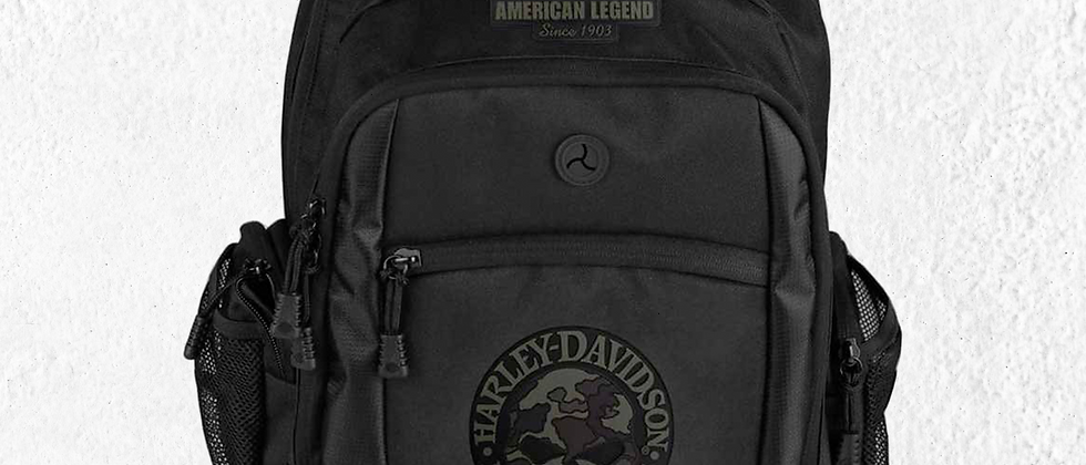 BP3025S-CAMBLK-Harley-Davidson® 3D Willie G Skull Classic Camo Backpack