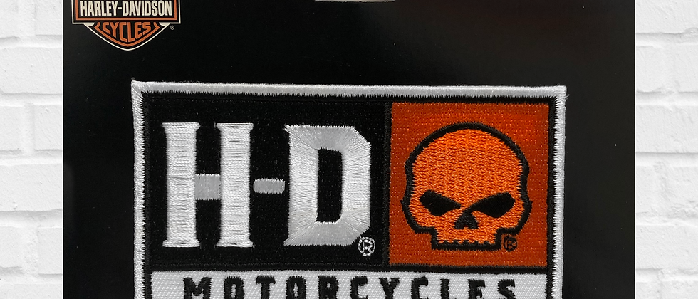 H-D MOTORCYCLES SKULL PATCH