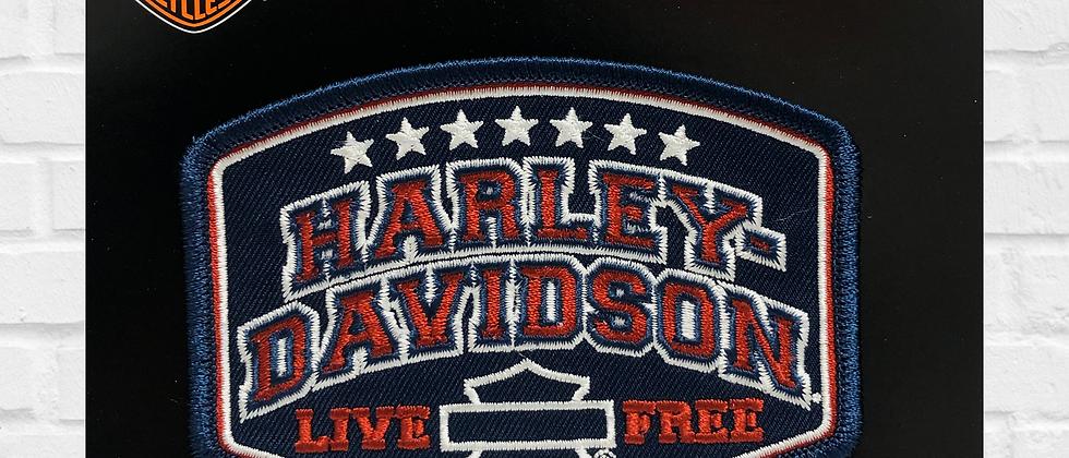 LIVE FREE HARLEY-DAVIDSON PATCH