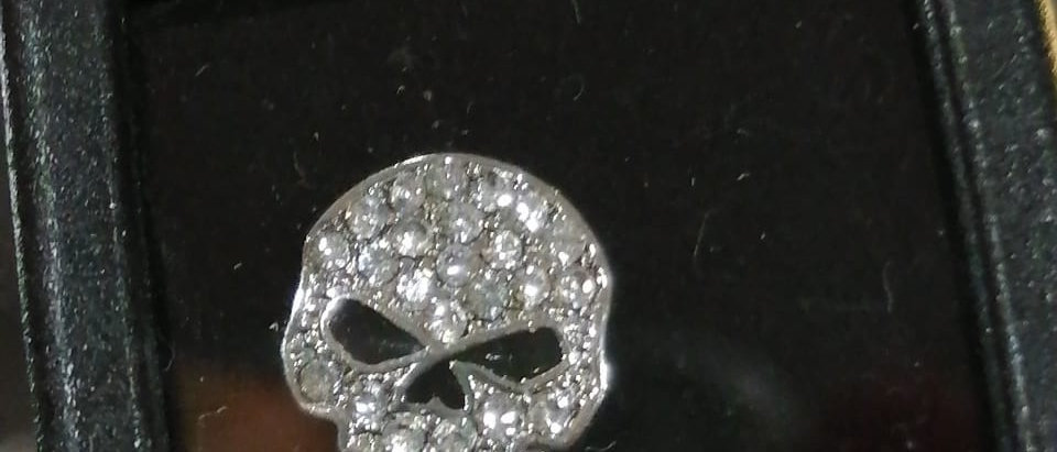 20 SRP/SUM CUT SILVER COLOR BLING WILLIE G SKULL LOCKET CHARM