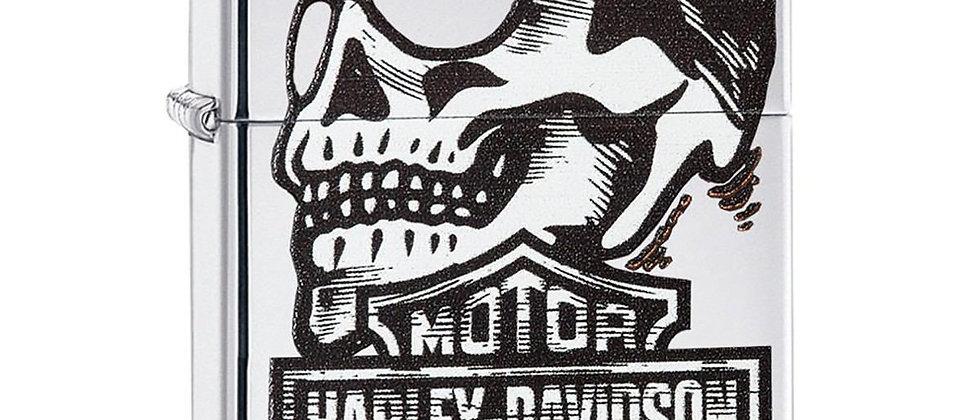 ENCENDEDOR ZIPPO HARLEY DAVIDSON LOGO CON CRANEO