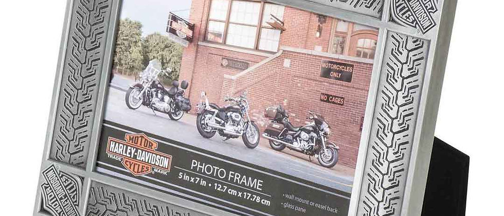 Harley-Davidson® Tire Tread Tin Plated Picture Frame