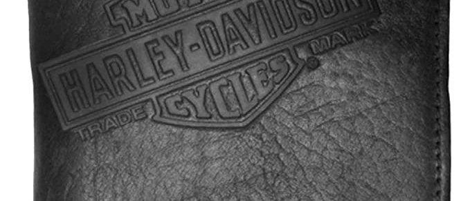 Harley-Davidson® Mens American Bison Classic Billfold Wallet, Black