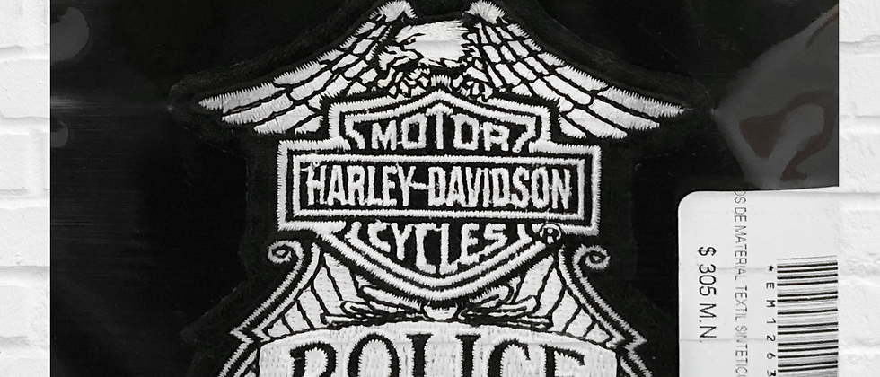 POLICE HARLEY-DAVIDSON PATCH