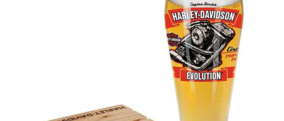 Harley-Davidson® Engine Series Pilsner Set - Evolution, 14 oz.