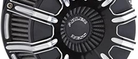 10-GAUGE INVERTED SERIES AIR CLEANER, BLACK
