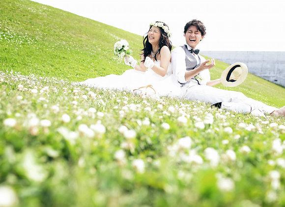 【預約訂金】婚紗+禮服各2套札幌市內外景場地2所