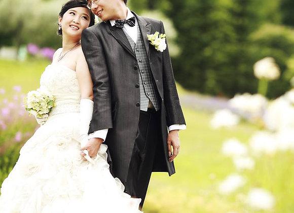 【預約訂金】婚紗禮服+和裝各1套札幌市內外景場地2所