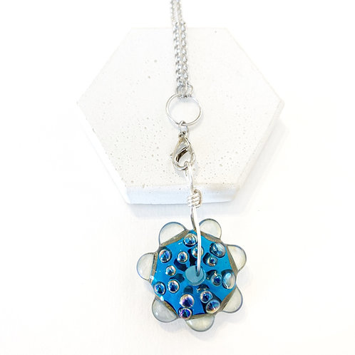 Spiked Pendant - Blue & Clear