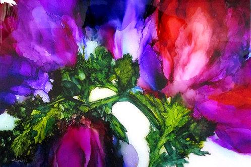 "Floral Series 2, 12"" x 18"""