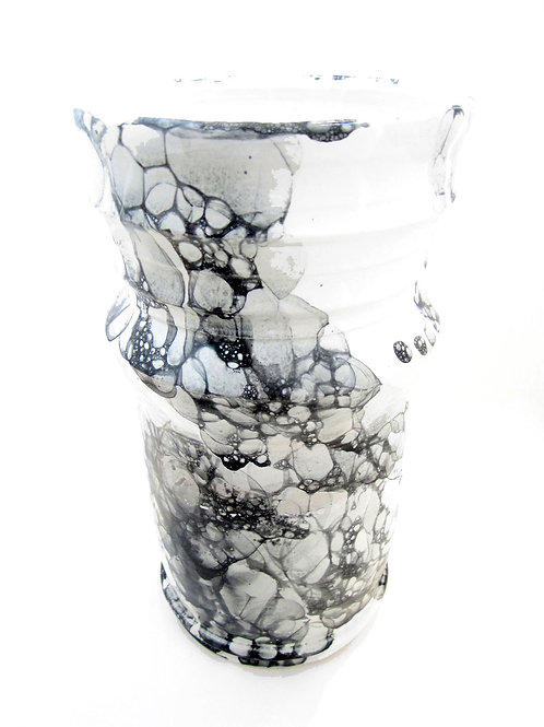 "Tall Marbled Vase, 5 1/2"" x 10"""