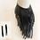 Thumbnail: Necklace and Earrings Set - Black Acrylic