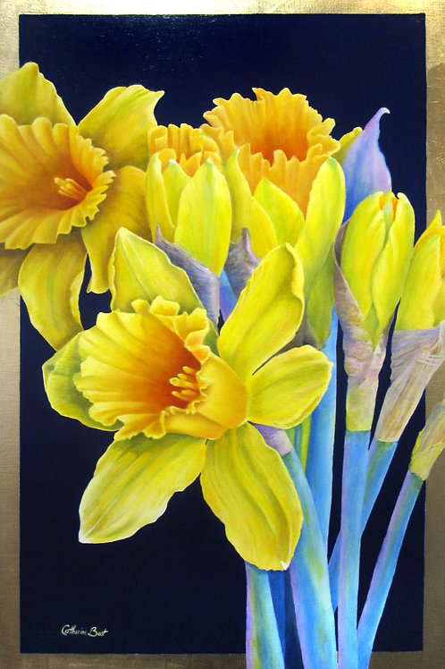 "Dances With Daffodils, 20"" x 30"""