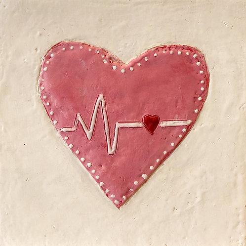 """Heartbeat, 6"""" x 6"""""""