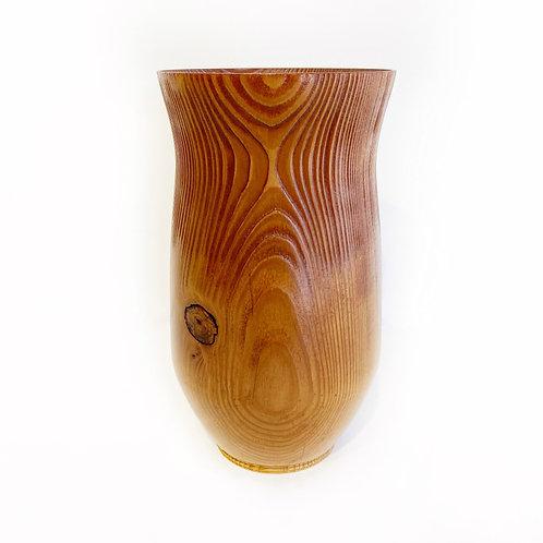 """Hiram Walker Douglas Fir Beam Vase, 5"""" x 8"""""""