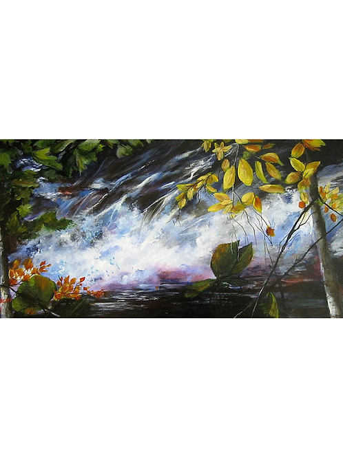 """As The Waters Flow, 16"""" x 32"""""""