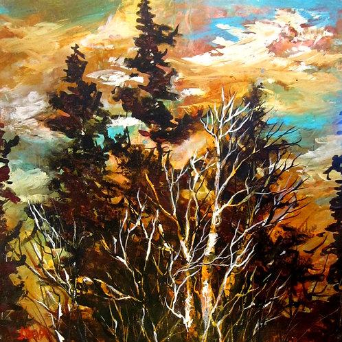 "Woodland Beauty, 12"" x 12"""