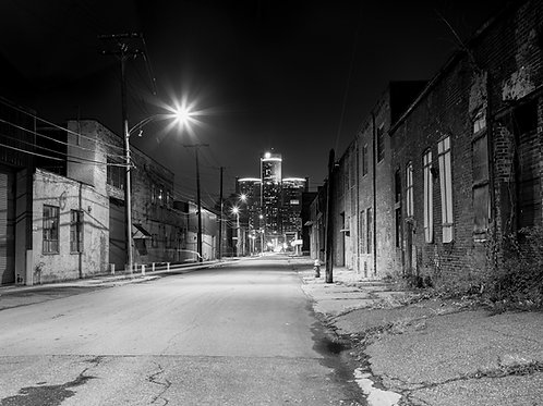 """GM Building, Detroit, 28"""" x 40"""""""