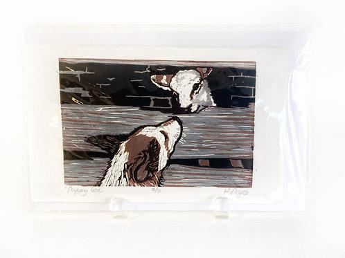 "Original Art Card - Puppy Love, 5"" x 8"""