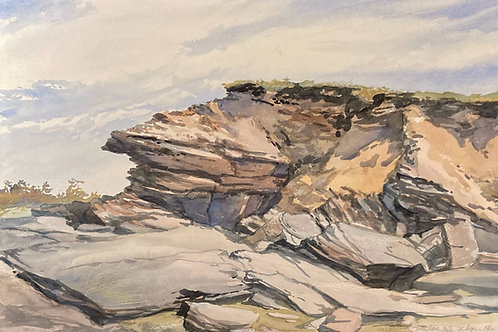 "Rock Formation, Lower Cove, 18"" x 26"""