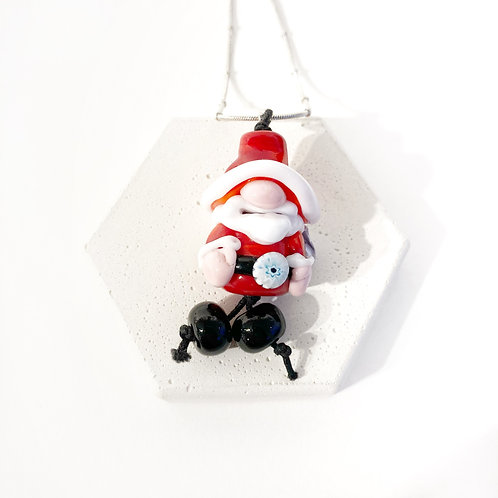 Seasonal Pendant - Santa Gnome