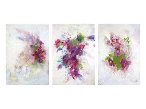 """She..."" Triptych, 32"" x 47"" each"