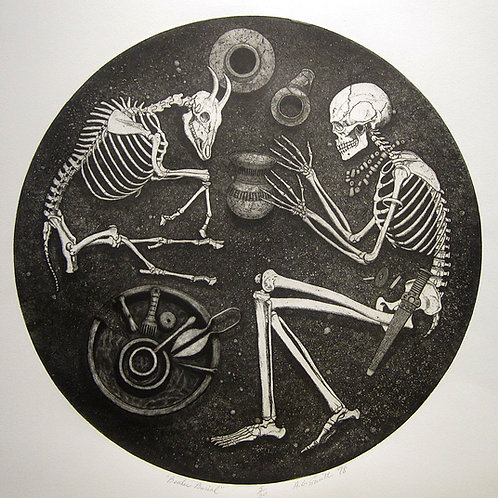 "Beaker Burial 3/30, 23"" x 24"""