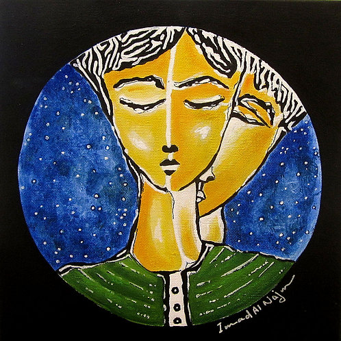 """The Lovers, 12"""" x 12"""""""