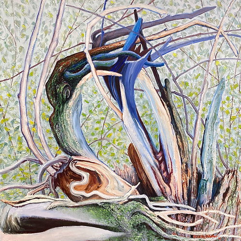 """New Life Springs Forth, 30"""" x 30"""""""