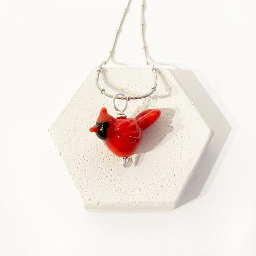 Seasonal Pendant - Cardinal