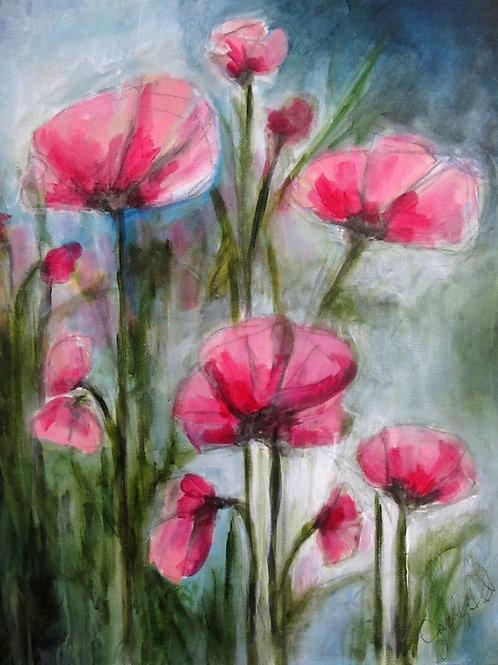 """Poppies, 16"""" x 20"""""""