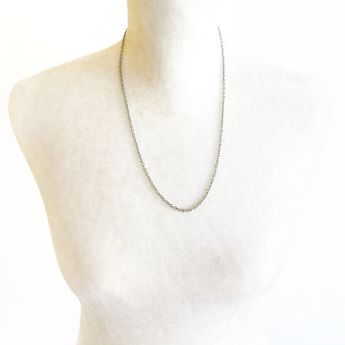 "24"" Silver Chain Necklace"