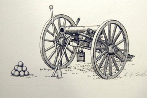 "Cannon, 10 1/2"" x 12 1/4"""