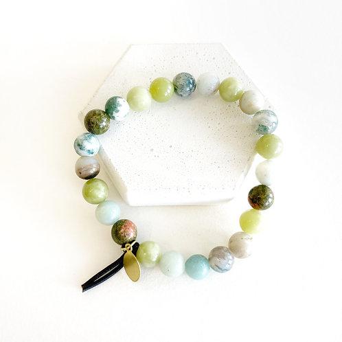 Bracelet - Green & White