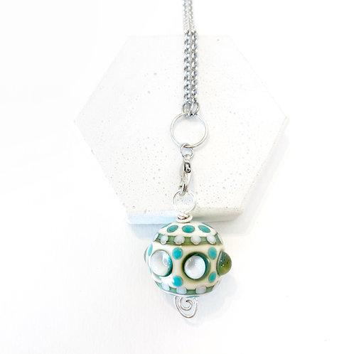 Detailed Pendant - Cream & Blue