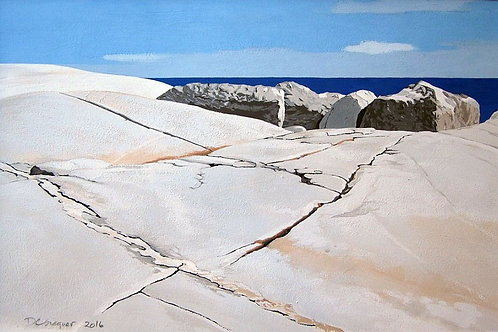 """The Boulders At Peggy's Cove, 15"""" x 21"""""""