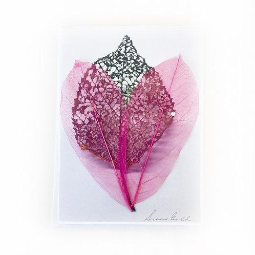 """Art Card - Skeleton Leaves, 5"""" x 7"""""""