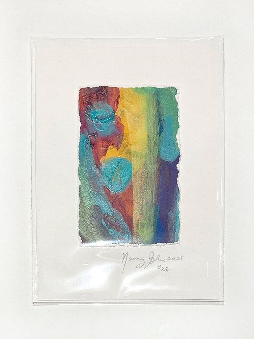 "Original Art Card #22 - 2021, 5"" x 7"""