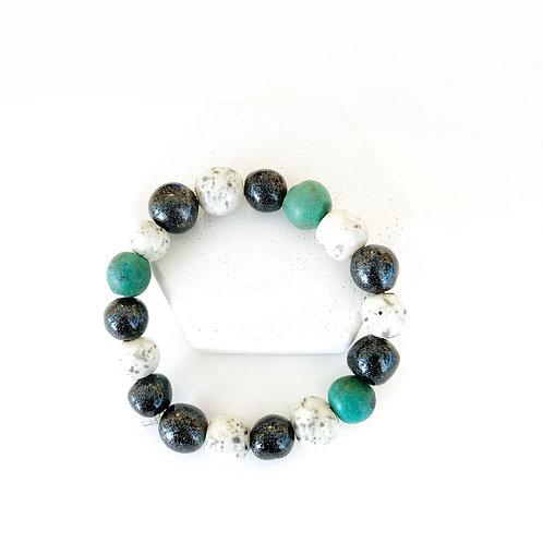 Bracelet  - Black, White, & Green