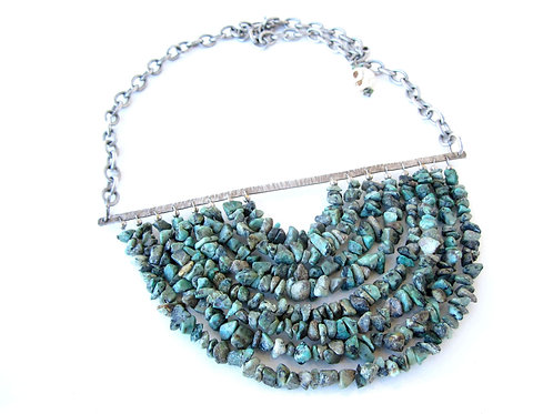 Necklace - Silver and Chrysacola